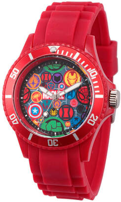 Marvel Classic Mens Red Strap Watch-Wma000069