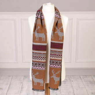 Nordic Dibor Stag Winter Scarf With Free Gift Bag