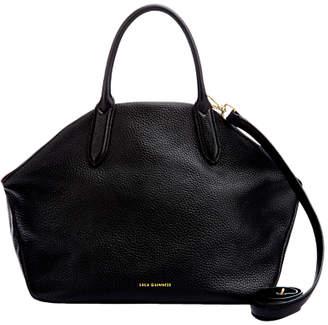 Lulu Guinness Large Peekaboo Valentina Leather Shoulder Bag, Black/Red