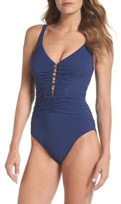 Gottex Profile By Shirred One-Piece Swimsuit