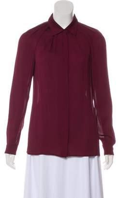 Gucci Silk Button Up Blouse