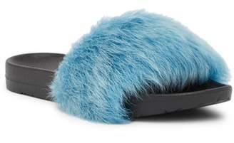 UGG Royale Tipped Genuine Lamb Fur Slide
