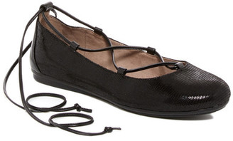 Easy Spirit Ginada Reptile-Embossed Ghillie Lace Flat $69 thestylecure.com
