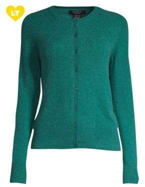 Lord & Taylor Petite Essential Cashmere Cardigan