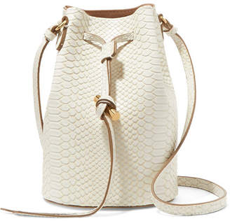 Stella McCartney Croc-effect Faux Leather Bucket Bag - Ivory
