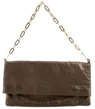 Robert Clergerie Metallic Leather Clutch