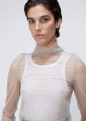 Rick Owens Lilies Long Sleeve Turtleneck Tulle Top