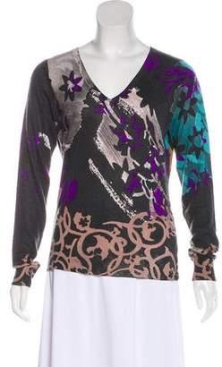 Etro Silk & Cashmere Blend Long Sleeve Sweater