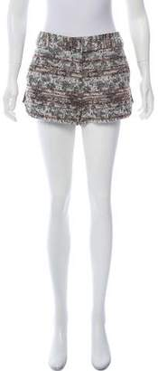 Rachel Zoe Metallic Knit Shorts