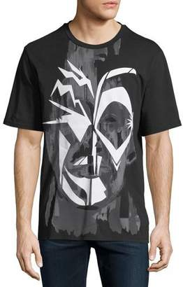 Just Cavalli Men's Face Graphic T-Shirt