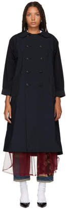 Comme des Garcons Navy Trench Coat