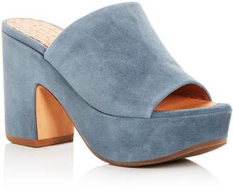 Chie Mihara Women's Fumie Suede High-Heel Platform Slide Sandals - 100% Exclusive