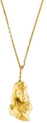 Solange Azagury-Partridge 18K Gold Nugget Pendant Necklace