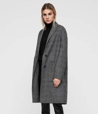 AllSaints Anya Check Coat