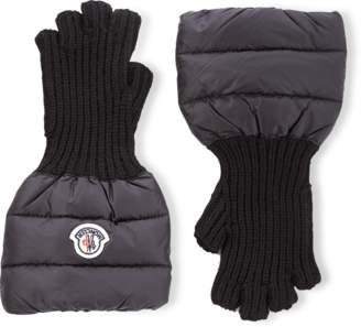 Moncler Fingerless Wool Gloves