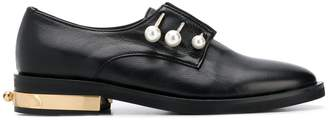 Coliac pearl-detail loafers