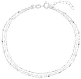 Lord & Taylor Sterling Silver Triple-Layered Cable Chain Anklet $45 thestylecure.com
