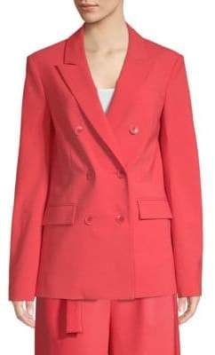 Tibi Tropical Steward Wool-Blend Blazer