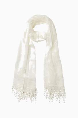 Fat Face Womens FatFace Natural Butterfly Lace Scarf - Natural