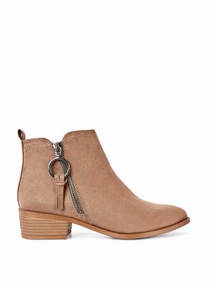 Dorothy Perkins Womens Taupe 'Mynor' Side Zip Ankle Boots