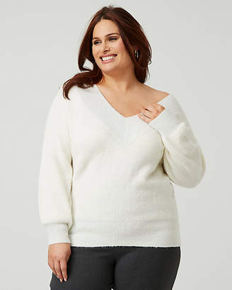 Le Château Knit Bishop Sleeve Sweater