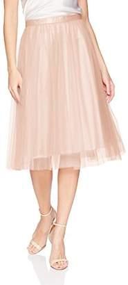Jenny Yoo Women's Rosie Tulle Tea Length Skirt