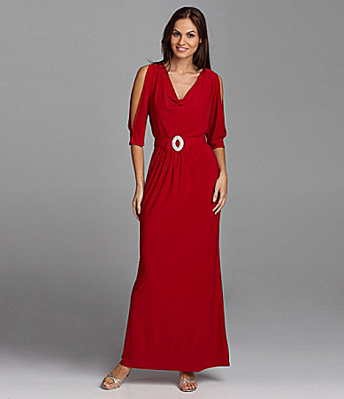 Jessica Howard Woman Jersey Cowlneck Gown