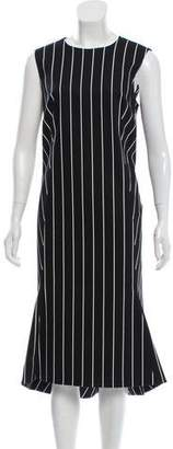 Balenciaga 2017 Striped Apron Dress w/ Tags