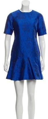 Alice + Olivia Short Sleeve Mini Dress w/ Tags Blue Short Sleeve Mini Dress w/ Tags