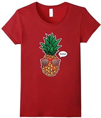 Cool Pineapple Print Shirt With Stylish Sunglasses