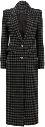Smythe Brando Plaid Coat