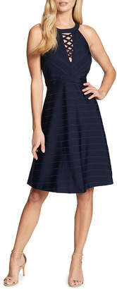GUESS Halter Crisscross-Neck Bandage Dress