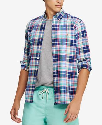 Polo Ralph Lauren Men Classic Fit Plaid Oxford Shirt
