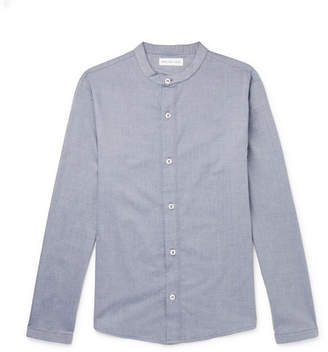 Hamilton and Hare Cotton And Cashmere-Blend Pyjama Shirt