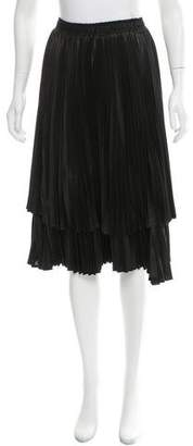 Clu Pleated Knee-Length Skirt