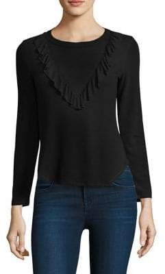Splendid Ruffled Bib Top