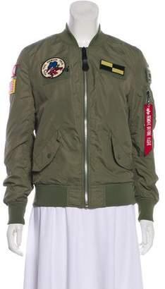 Alpha Industries Embellished Bomber Jacket