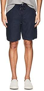 Blank NYC Blanknyc Men's Slim Linen Shorts - Navy Size 34