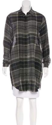 Steven Alan Longline Plaid Top