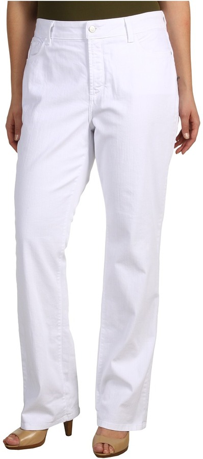 NYDJ Plus Size Plus Size Marilyn Straight Leg in Optic White