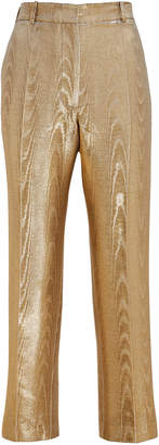 Racil Michael Moire Metallic Cigarette Trousers