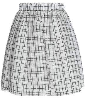 MSGM Checked Cotton And Silk-Blend Skirt