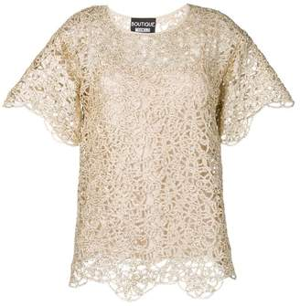 Moschino lace detail T-shirt