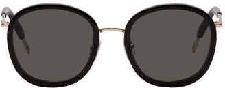 Gentle Monster Black and Rose Gold Ollie Sunglasses