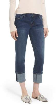 KUT from the Kloth Roll-Up Straight Leg Jeans