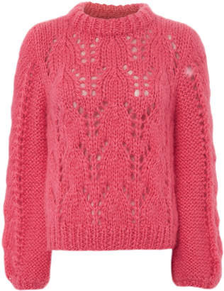 Ganni Julliard Mohair Hot Pink Sweater