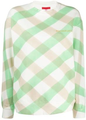 Eckhaus Latta Lattice check sweatshirt