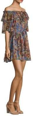 Zimmermann Lovelorn Silk Frill Dress