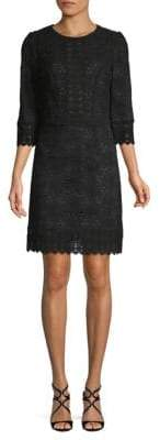 Andrew Gn Cotton Lace Shift Dress