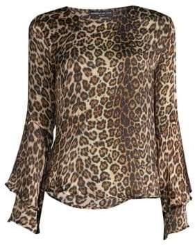 Generation Love Lindsay Silk Leopard Blouse